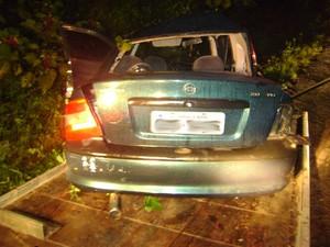 Passageira morreu na hora (Foto: PMRv SC/Divulgação)
