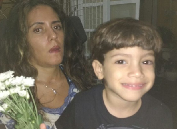 Aline e o filho, Guilherme, 3 anos (Foto: Arquivo pessoal/ Nelcy Lucatto)