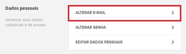 alterar e-mail (Foto: alterar e-mail)