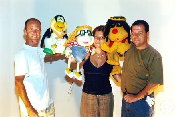 Os bonequeiros da turma da Garrafinha (Foto: Acervo Globo)