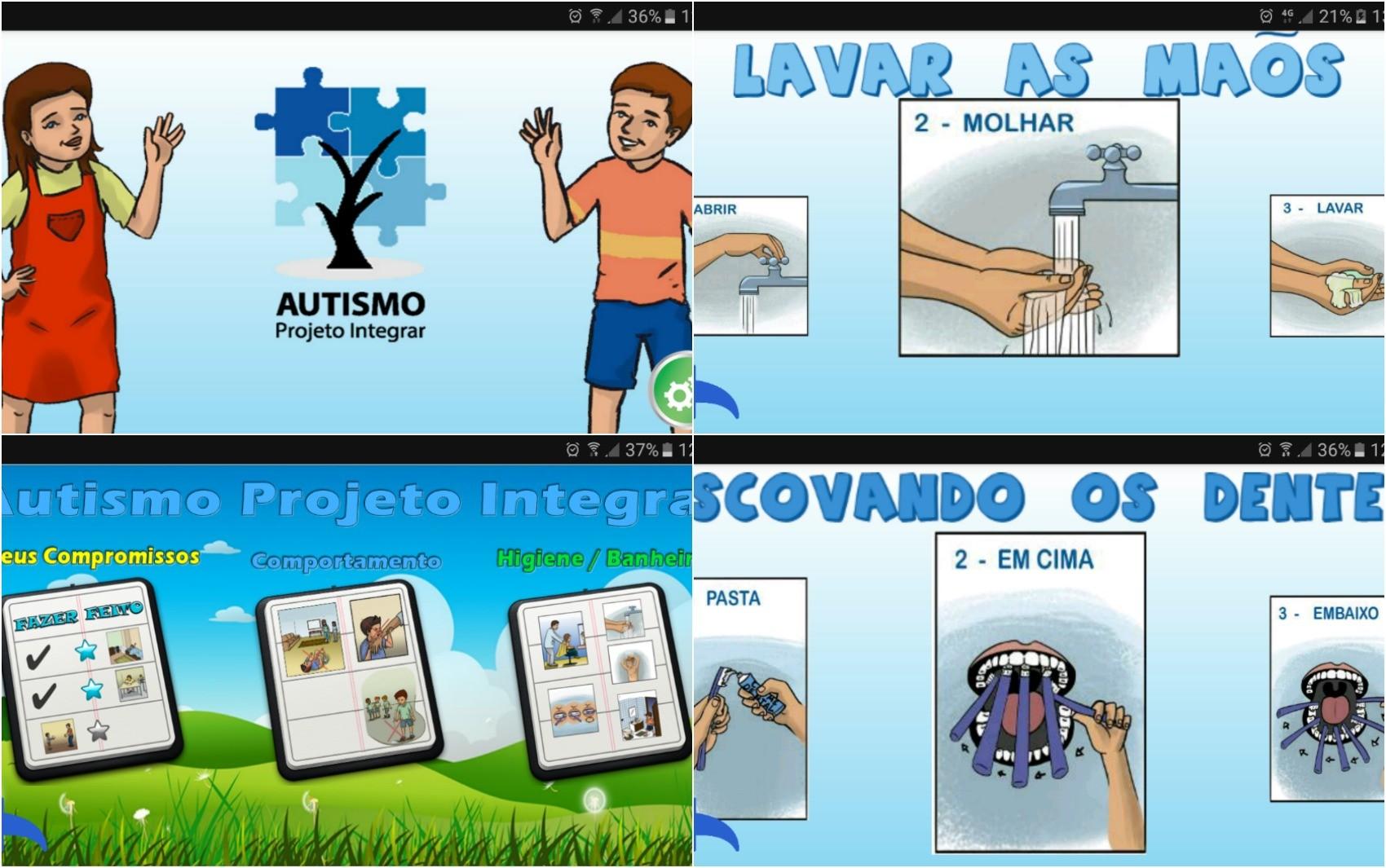 Aplicativo auxilia autistas com passo a passo de atividades diárias (Foto: Reprodução/Autismo Projeto Integrar)