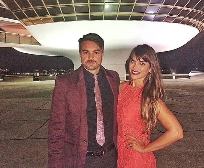 Márcio Kieling e sua mulher, a atriz Jacqueline Fernandez (Foto: Arquivo Pessoal)