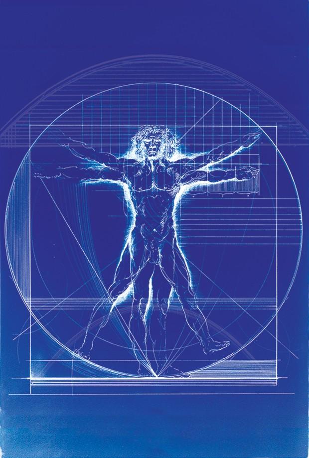"""OBRA DE ARTE O homem vitruviano,  de Leonardo da Vinci.  Para os adeptos do """"design inteligente"""", o ser humano foi projetado por uma mente ainda mais genial (Foto: Ilustração: Alexandre Camanho)"""