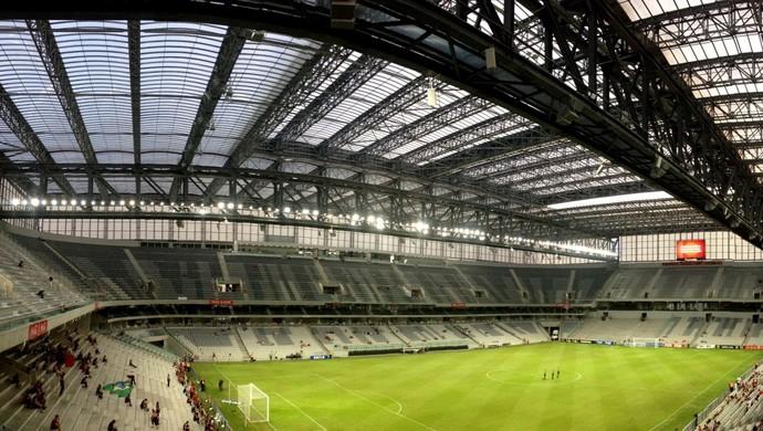 Atlético-PR Arena da Baixada Teto Retrátil Cobertura (Foto: Fernando Freire)