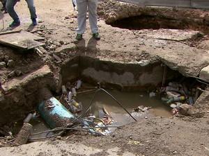 Percurso do Galo da Madrugada apresenta várias irregularidades  (Foto: Reprodução/ TV Globo)