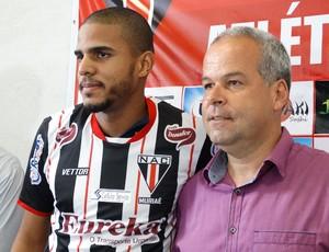 Alexandre Balotelli Rodrigues atacante Nacional de Muriaé NAC (Foto: Nacional de Muriaé/Divulgação)