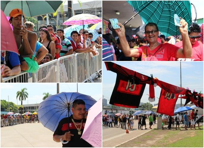 Mosaico - Venda de ingressos para Flamengo e Vitória, no Amazonas (Foto: GloboEsporte.com)