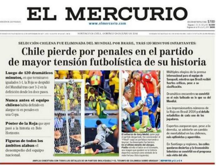 El Mercurio Chile (Foto: Reprodução/El Mercurio)