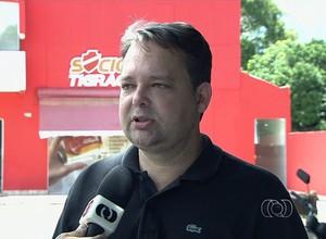 Gutemberg Veronez - presidente Vila Nova (Foto: Reprodução / TV Anhanguera)