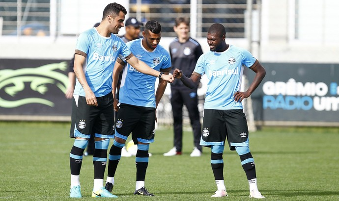 Maicon Kaio Iago Grêmio (Foto: Lucas Uebel/Grêmio)