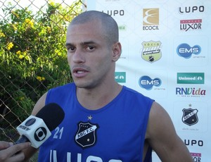 Thiaguinho, lateral-direito do ABC (Foto: Tiago Menezes)