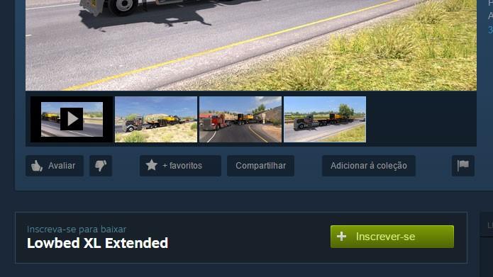 Clique no ícone Inscrever-se/Subscribe para baixar mods pelo Steam (Foto: Reprodução/Tais Carvalho)