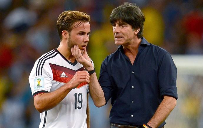 Mario Gotze e Low jogo final Alemanha x Argentina (Foto: Getty Images)
