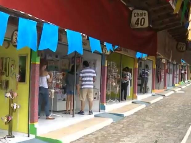 Vila do Artesão é uma das atrações do São João de Campina Grande (Foto: Reprodução/TV Paraíba)