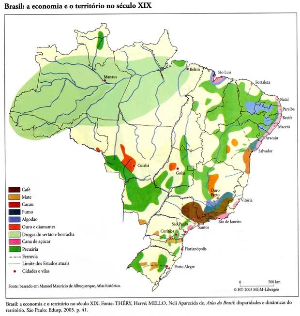 Economia e território - Brasil (Foto: Reprodução)