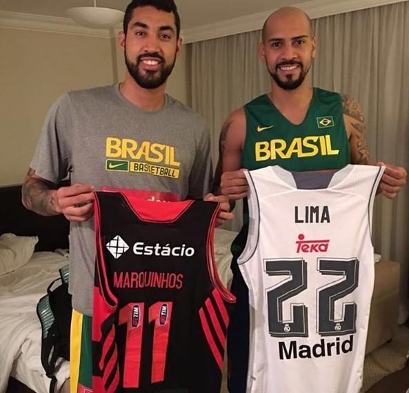 Augusto Lima Marquinhos Basquete Flamengo Brasil (Foto: Reprodução/Instagram)