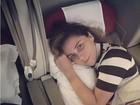 Sem maquiagem, Giovanna Antonelli celebra chegada a Madri para férias