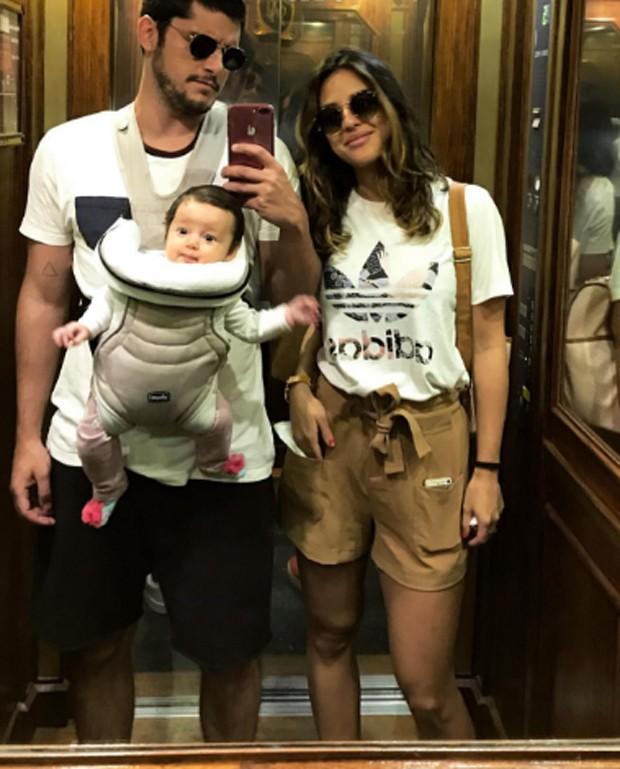 Bruno Gissoni, Yanna Lavigne e Madalena (Foto: Reprodução/Instagram)