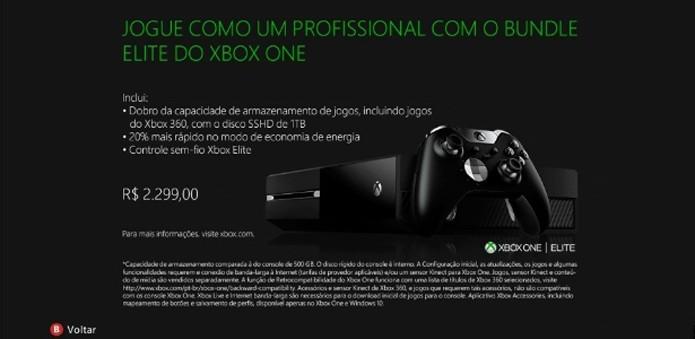 Imagem apareceu na Xbox LIVE Store, mas logo saiu do ar (Foto: Reprodução/Xbox LIVE)