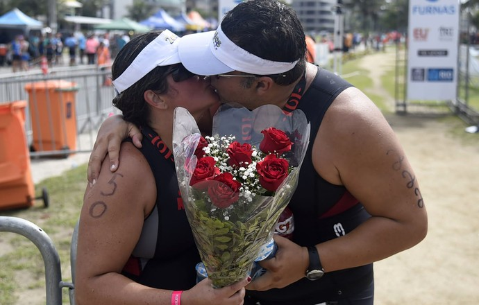 EuAtleta - Rio Triathlon casal câncer (Foto: André Durão)