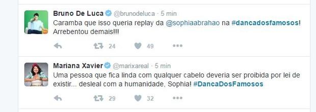 Famosos comentam participação de Sophia Abrahão (Foto: Reprodução/Twitter)