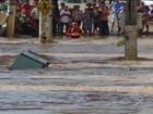 Régua que mede rio é submersa em Barra de São Francisco, ES