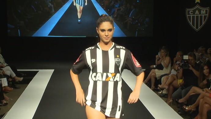 Evento de lançamento do novo uniforme do Atlético-MG (Foto: Reprodução/TV Globo)