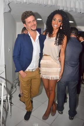 Ex-BBBs Aslan e Aline em evento em Fortaleza (Foto: Denilson Silva/ Ag. News)