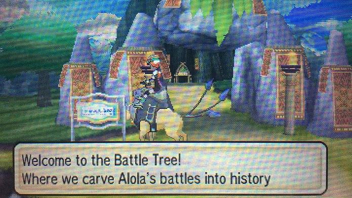 A Battle Tree fica em Poni Island, depois de Poni Gauntlet (Foto: Reprodução/Tais Carvalho)