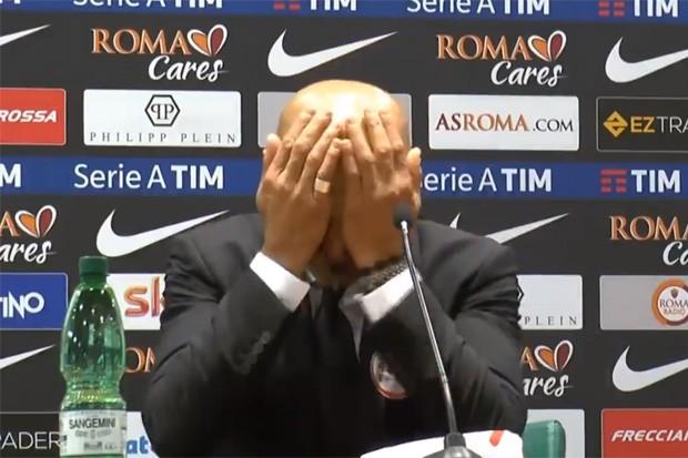 """""""Ma che cazzo"""": Luciano Spalletti não acreditou na pergunta do repórter (Foto: Reprodução)"""