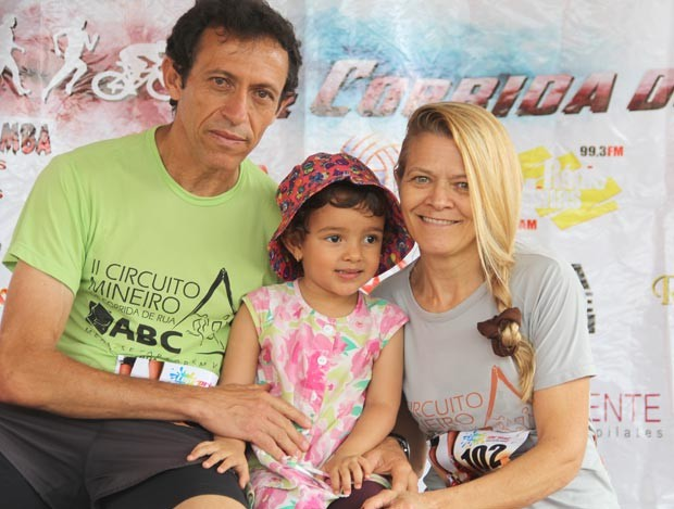 Margarida Gomes ,Brás Faria, casal, corrida, corredor, corredora, Itapecerica, MG, (Foto: Davi Raposo/Arquivo pessoal)
