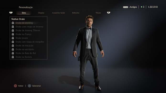 Confira as skins de Uncharted 4 (Foto: Reprodução/Murilo Molina)