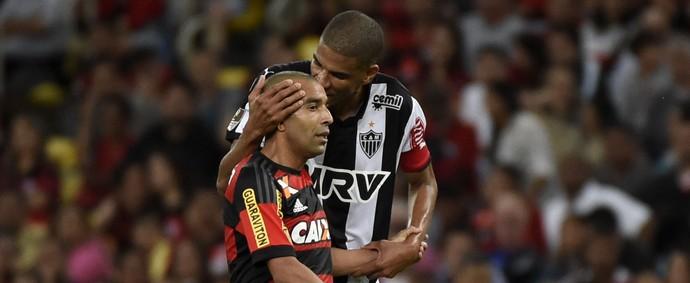 Emerson Sheik Leonardo Silva Flamengo x Atlético-MG (Foto: André Durão)
