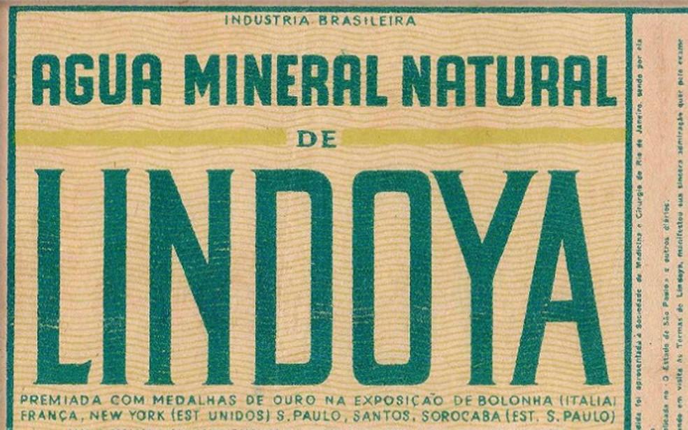 Rótulo da época em que a água foi comprada para missão nos EUA, em 1969 (Foto: Reprodução / Rótulo oficial)