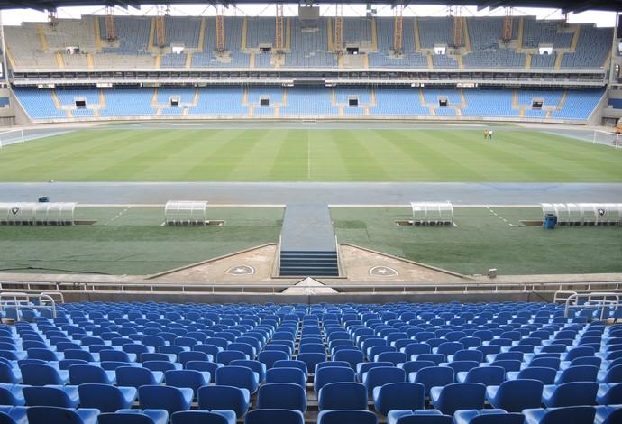 Engenhão arquibancada (Foto: Cauê Rademaker / GloboEsporte.com)