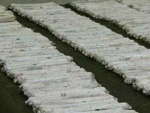 Cerca de 400 bananas estavam enterradas (Foto: Reprodução/RPC TV)