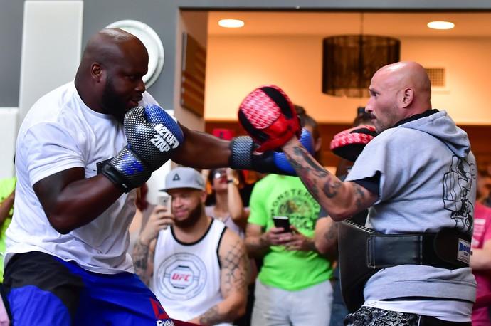 Derrick Lewis, treino aberto UFC Dallas, MMA (Foto: Jason Silva)