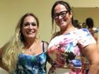 Susana Vieira posa com mãe de Neymar e brinca: 'Minha sogra'