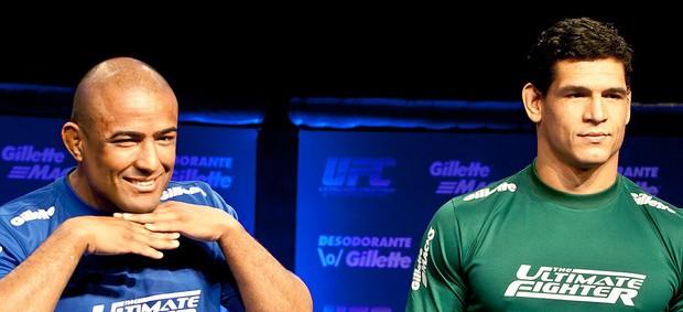 Serginho e Cezar Mutante na coletiva do TUF  (Foto: Rodrigo Dionisio / Ag. Estado)