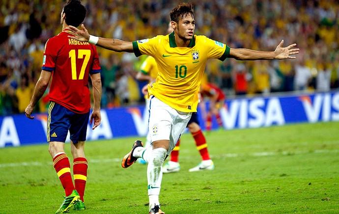 neymar brasil gol espanha final copa das confederações (Foto: Agência Reuters)