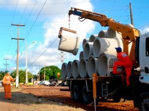 Obras de mobilidade urbana começam na Av. Capitão-Mor Gouveia, em Natal (Foto: Alex Régis)