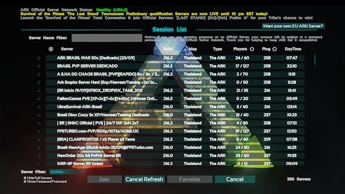 Antes de começar, escolha um dos servidores oficiais ou não-oficiais para jogar (Foto: Reprodução/Tais Carvalho)