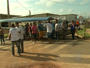 Protesto Altamira (Foto: Reprodução/TV Liberal)