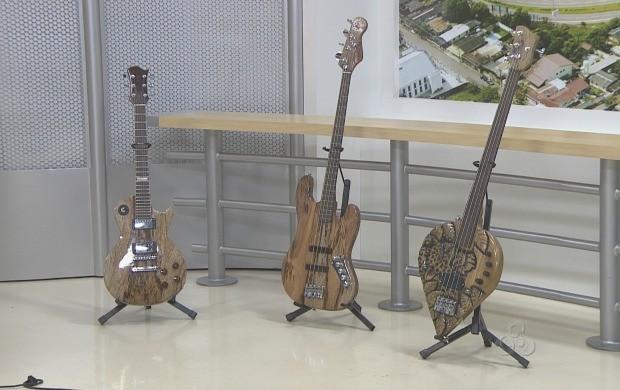 Instrumentos contruidos pelos luthiers  (Foto: Reprodução TV Acre)