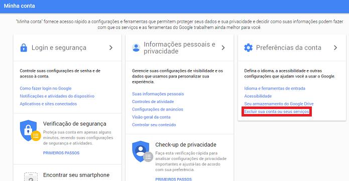 Como Excluir A Sua Conta Do Google