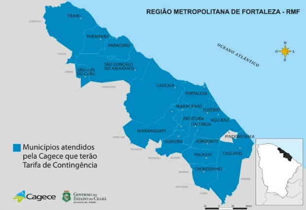 Taxa para quem economizar água chega a mais 17 cidades do Ceará (Foto: Cagece/Reprodução)