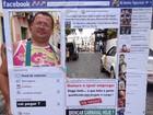 Folião é sucesso com fantasia de Facebook (Manoel Filho/G1)