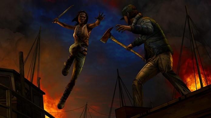 Michonne parte para ação no novo episódio de The Walking Dead: Michonne (Reprodução / Telltale games)