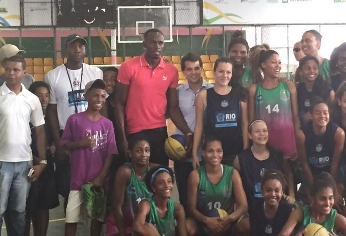 atletismo Usain Bolt VIla Olímpica da Mangueira (Foto: Amanda Kestelman)