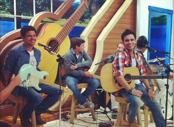 O talento de Pedro Espíndola no programa Meu MS. (Foto: Reprodução/TVMO)